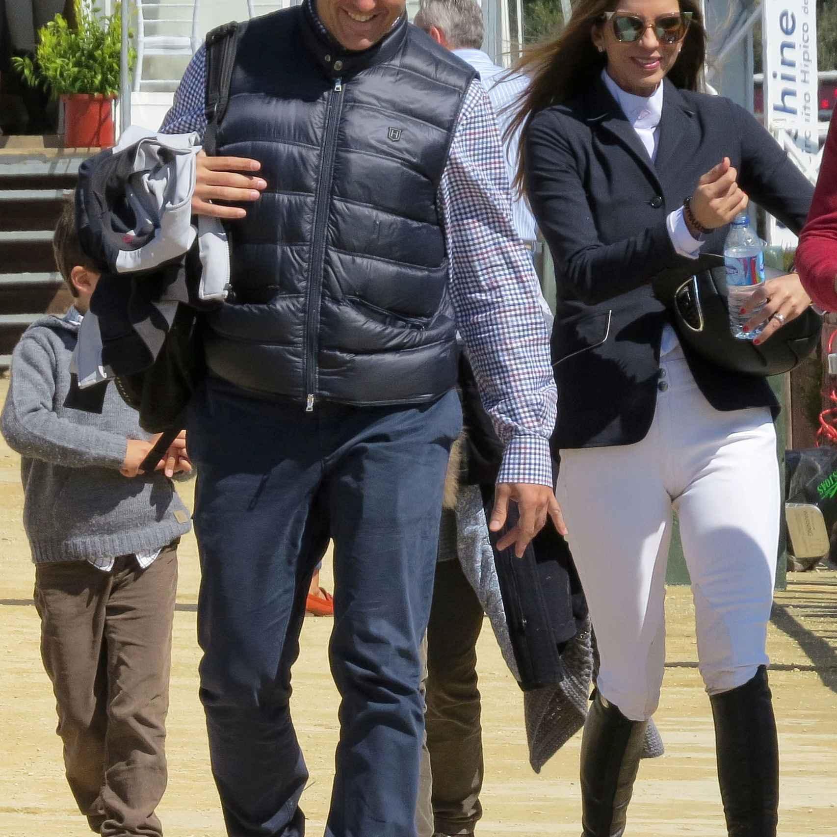 Luis Alfonso de Borbón y Margarita Vargas durante el Concurso de Montenmedio 2016