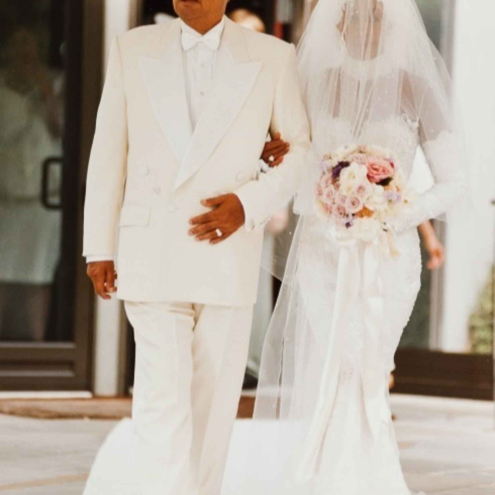 Whitney Houston el día de su boda