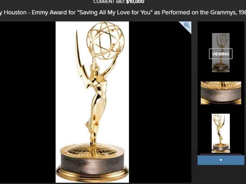 El premio Emmy de Whitney que se subastará