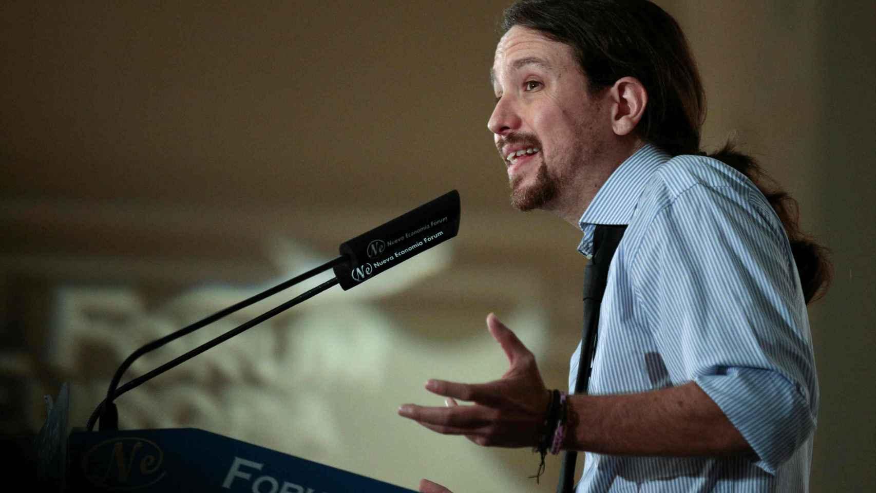 El candidato de Podemos, Pablo Iglesias, en un acto reciente.
