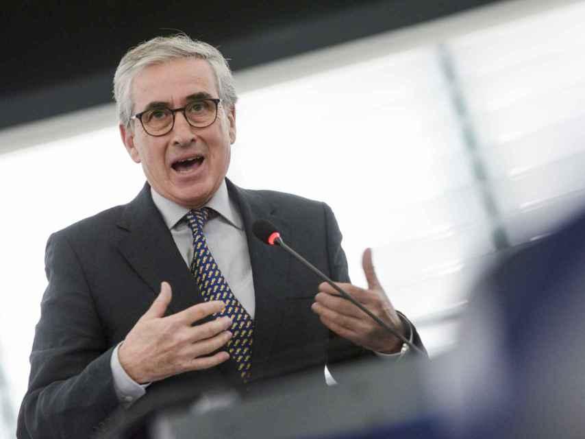 Ramón Jáuregui, en una reciente intervención en el pleno de la Eurocámara