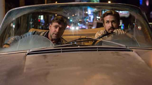 Russell Crowe y Ryan Gosling en Dos buenos tipos.