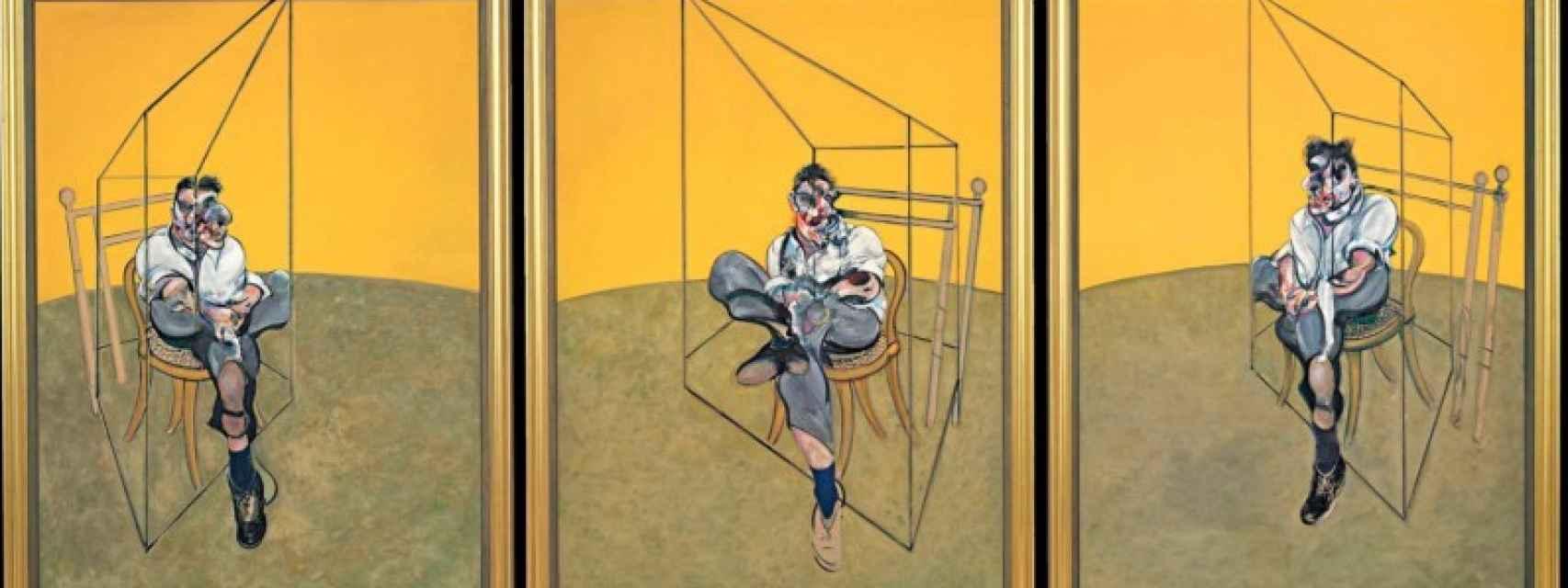 Tres estudios de Lucien Freud (1969).