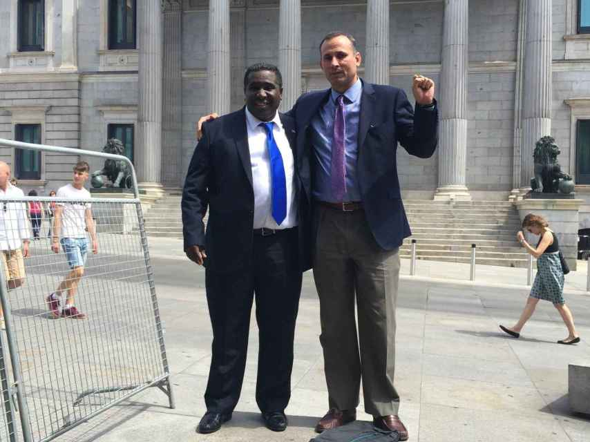 Iván Hernández (i) y José Daniel Ferrer (d) fueron condenados a 25 años de prisión por sus ideas.