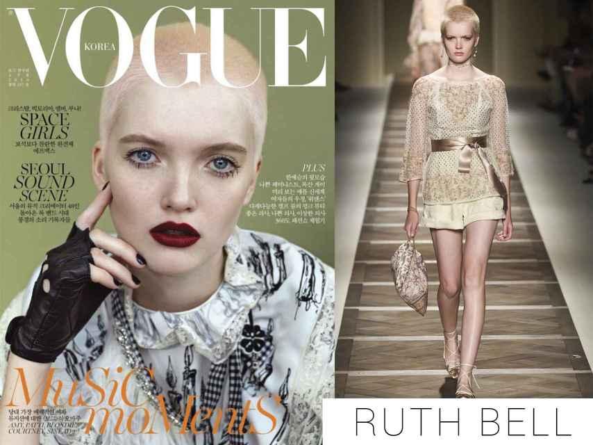 Ruth Bell en la portada de Vogue Korea y desfilando para Etro