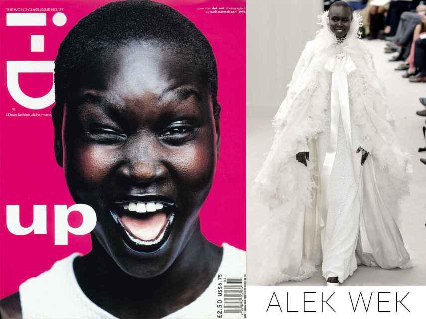 Alek Wek en la portada de I-D y desfilando para Chanel