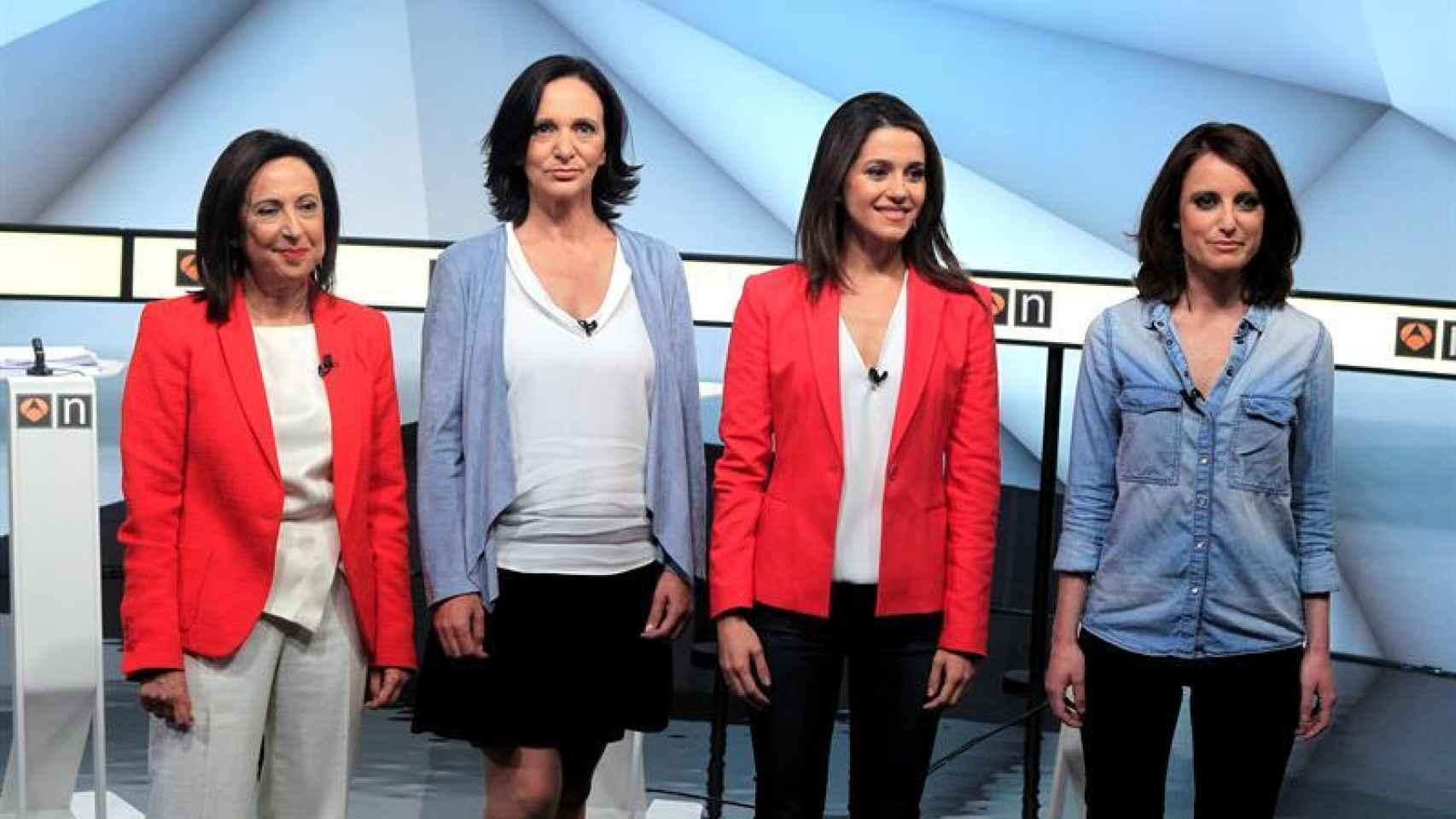 Margarita Robles, Carolina Bescansa, Inés Arrimadas y Andrea Levy han protagonizado el primer debate electoral en Antena 3