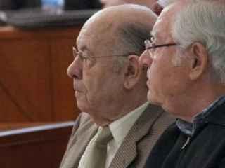 El expresidente de la Fundación Palau de la Música Catalana, Félix Millet, junto a Jordi Montull
