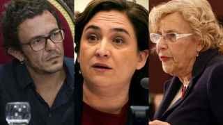 Kichi, Colau y Carmena, alcaldes de Cádiz, Barcelona y Madrid.