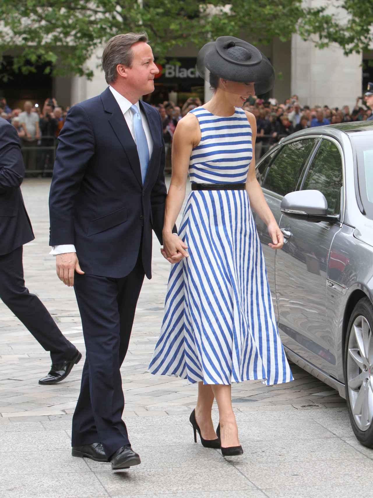 David Cameron con su mujer Samanta