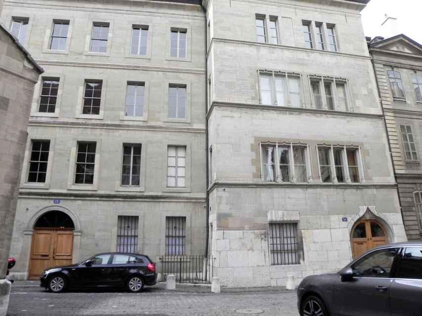 Edificio donde vive la Infanta Cristina en Ginebra
