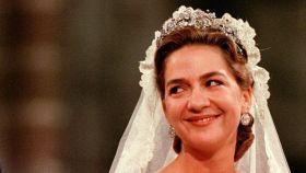 La Infanta Cristina el día de su boda.