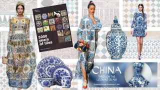 Los azulejos están presentes en la moda y en el arte.