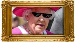 Isabel II en un fotomontaje