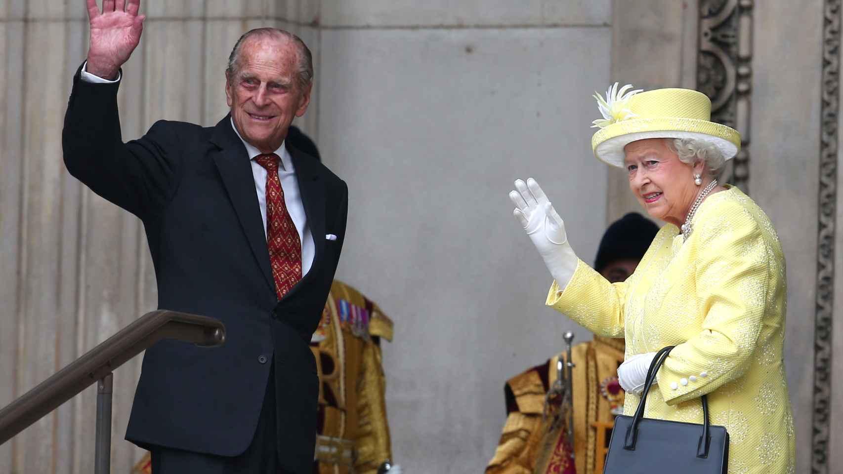 La reina Isabel II y su marido el príncipe Felipe de Edimburgo