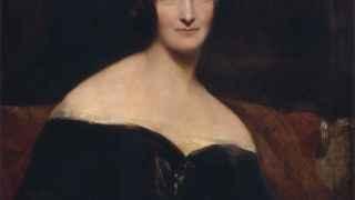 La joven Mary Shelley, madre del mito de Frankenstein.