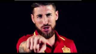 Ramos durante el videoclip de la canción de España para la Eurocopa.