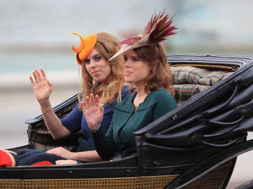 Las princesas Beatriz y Eugenia de York