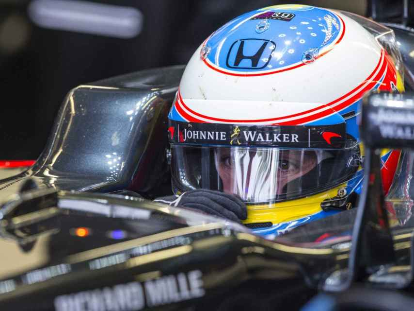 Alonso durante la tercera sesión de libres en Canadá.