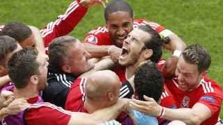Bale celebra el gol de la victoria.