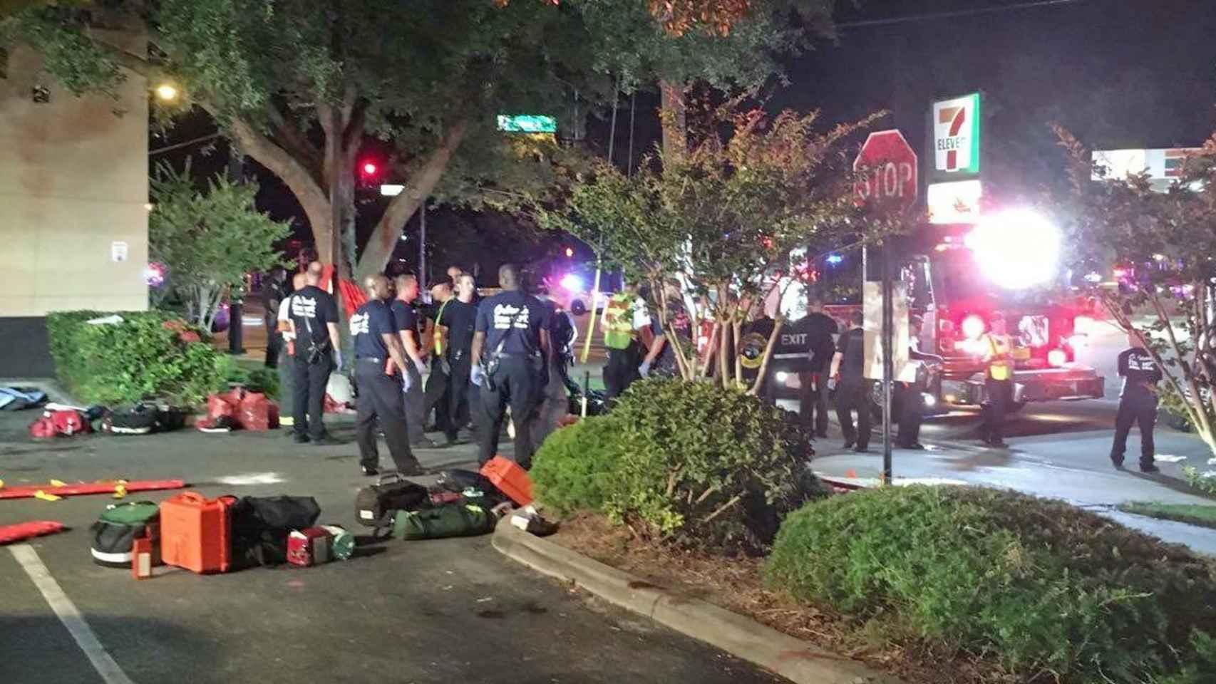 Exteriores del club Pulse, tras el tiroteo.