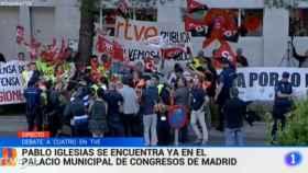Las protestas contra TVE se cuelan 'a medias' en el Telediario