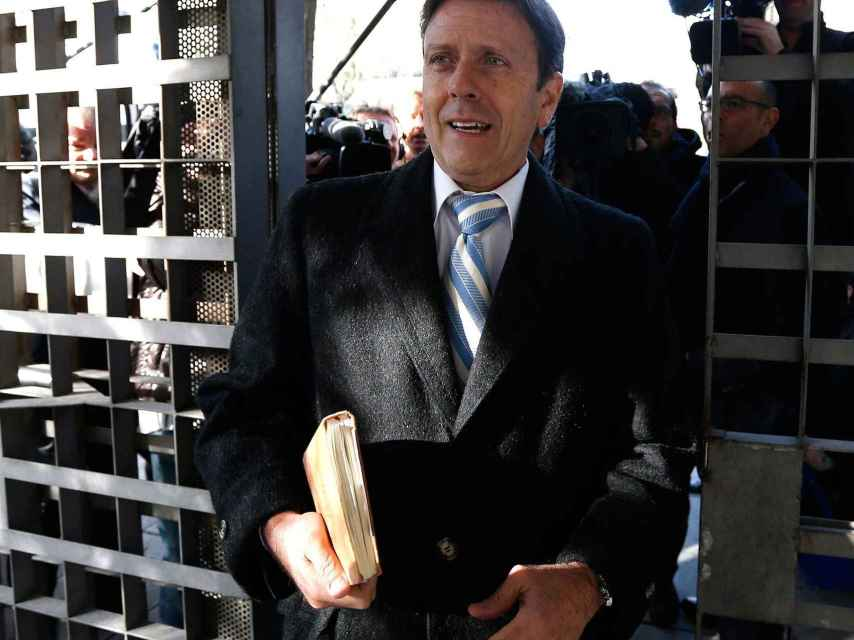 Eufemiano Fuentes llega al juzgado en 2013.