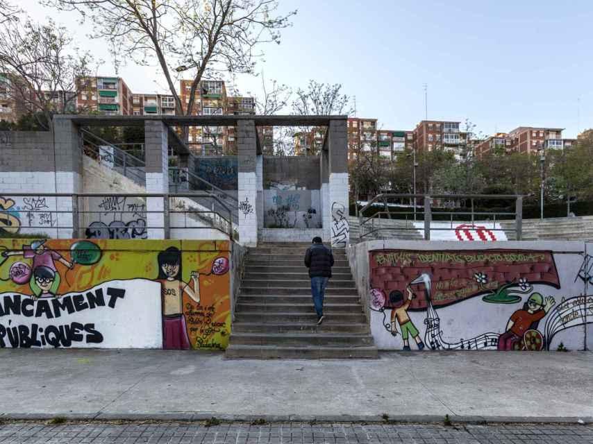 Parte del proyecto de los chicos del barrio de Llefià.