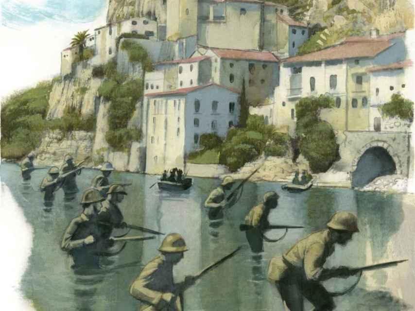 Una de las ilustraciones de Fernando Vicente para el libro de Pérez-Reverte.