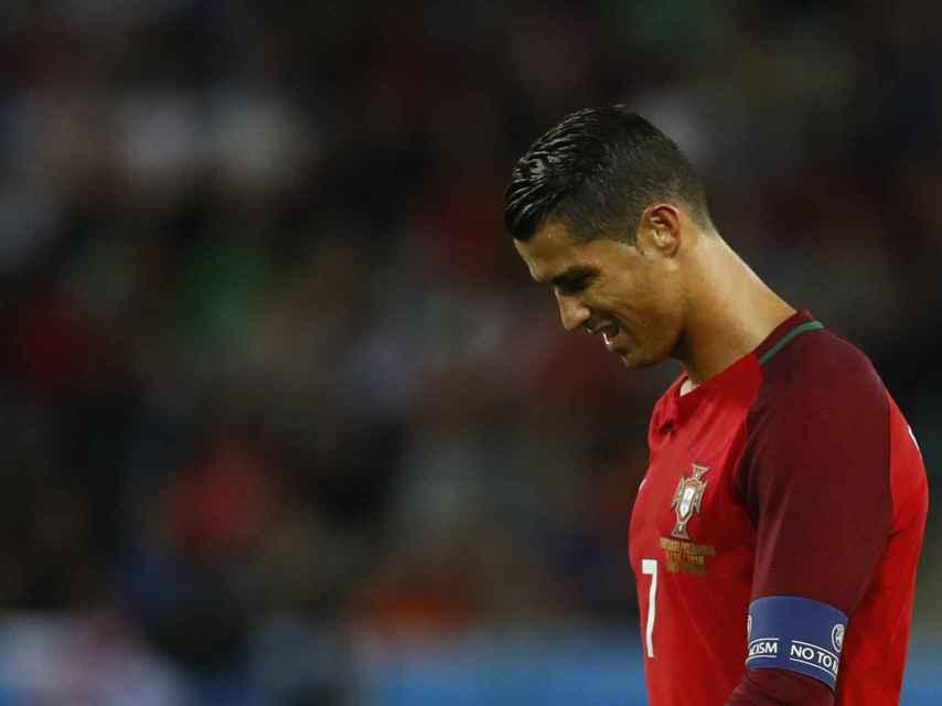 Ronaldo, tras la derrota de Portugal.