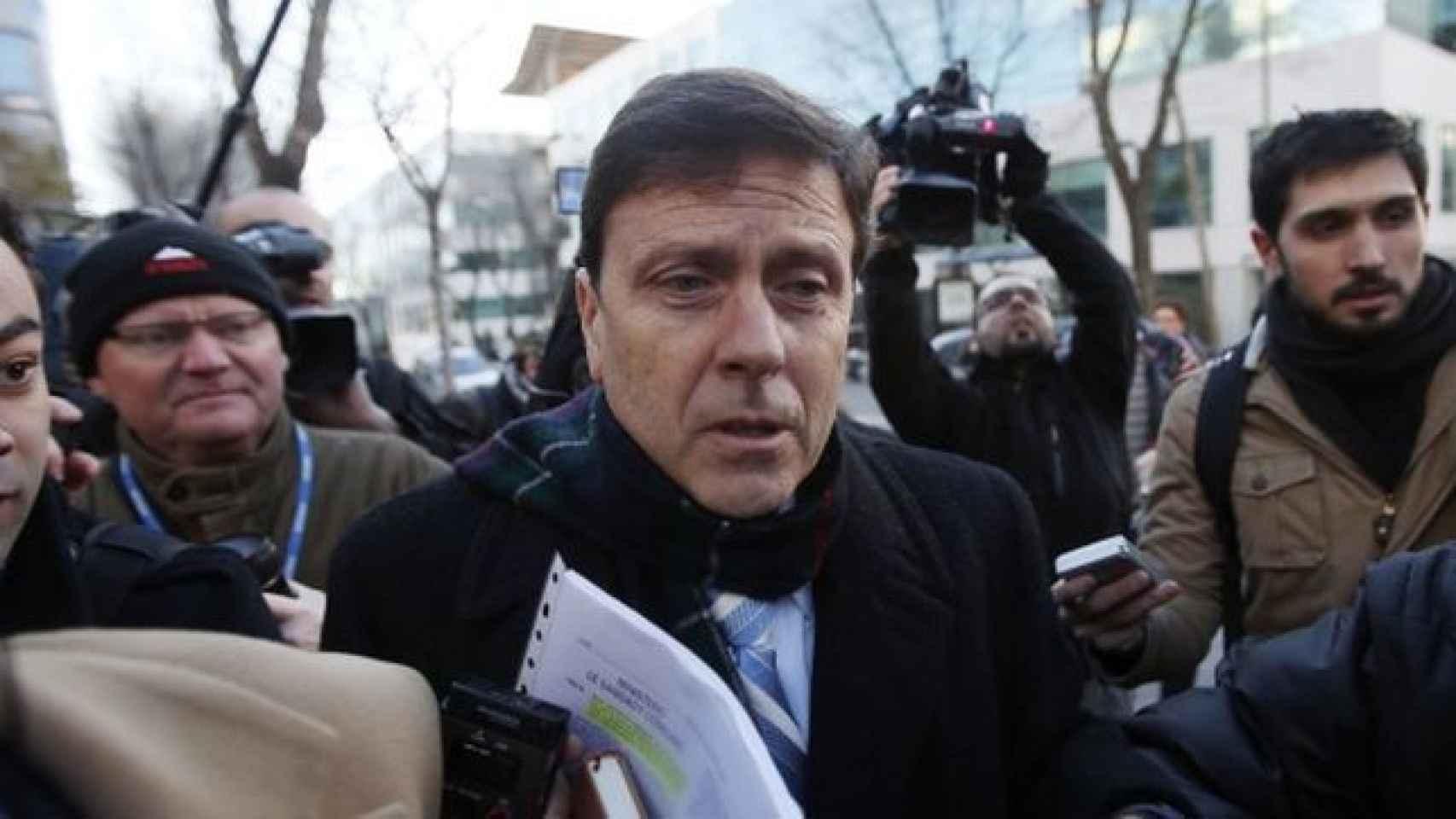 Eufemiano Fuentes a la entrada del Juzgado.