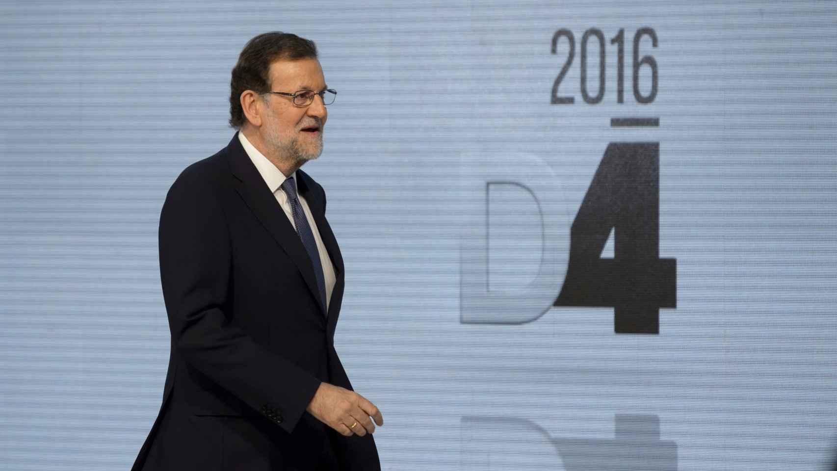 El líder del PP, Mariano Rajoy, en el debate a cuatro.