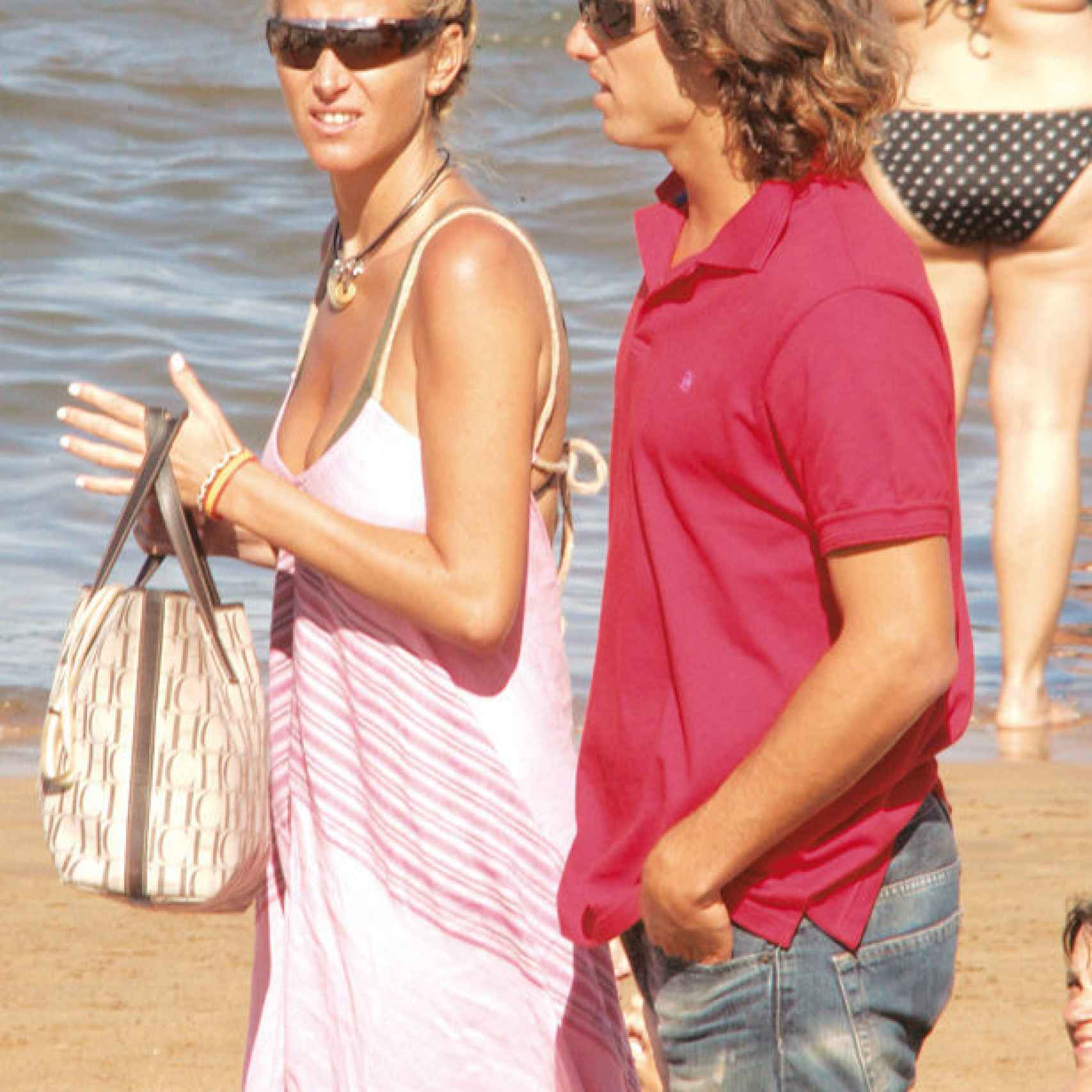 Alejandra Prat y Feliciano López durante el verano de 2005