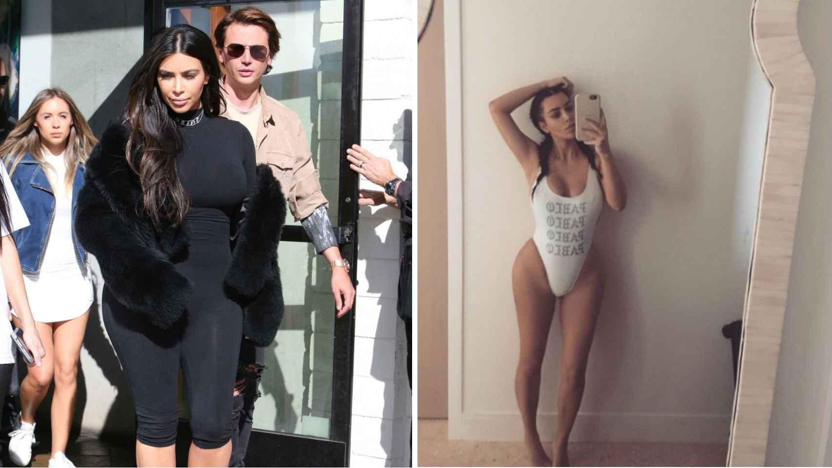 Kim Kardashian antes y después de la dieta