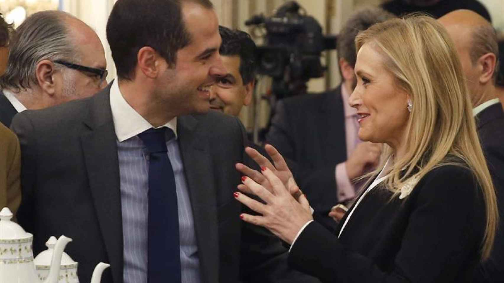Cristina Cifuentes junto al líder de C´s en Madrid, Ignacio Aguado.