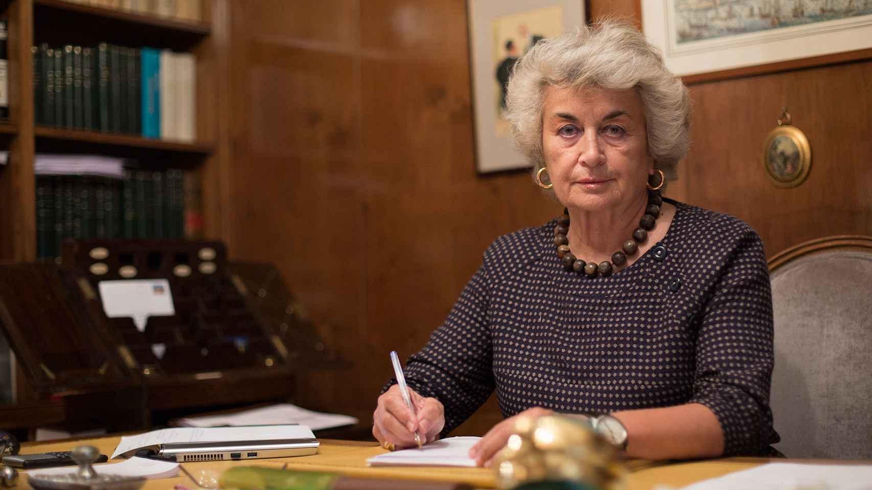 Cristina Peña, en su despacho de Madrid este miércoles