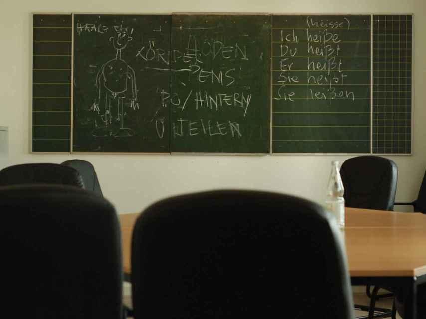 Los refugiados reciben clases en alemán donde hablan de temas sexuales.