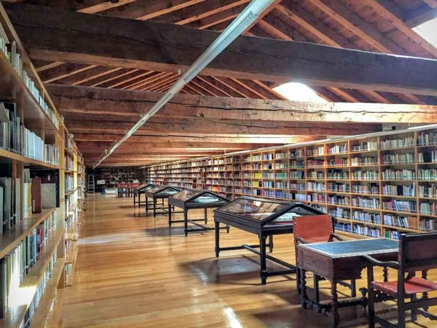 La biblioteca del monasterio.