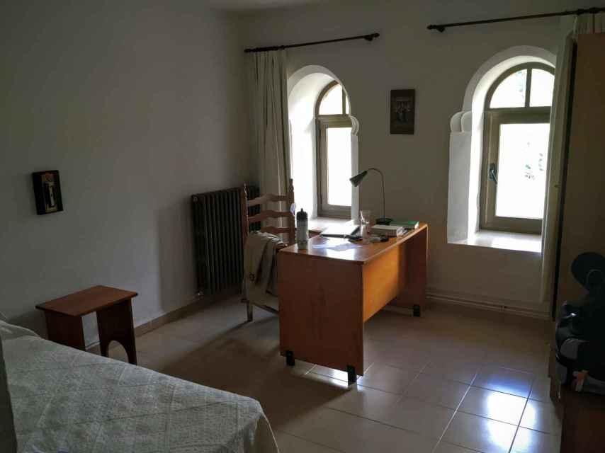 Una de las celdas de los monjes.