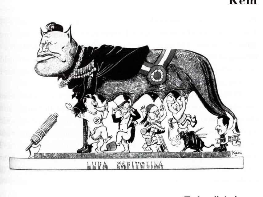 Kem, 1936. Todos dictadores: una de las viñetas que aparecen en la recopilación histórica de Roberto Fandiño.