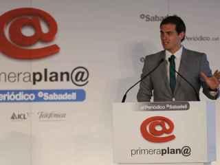 Albert Rivera, durante su intervención.