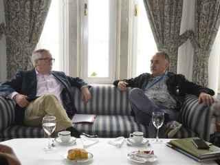 Los líderes sindicales de CCOO y UGT, Toxo y Álvarez