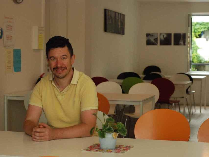 Stephan Jäkel, principal impulsor del hogar de refugiados gays.