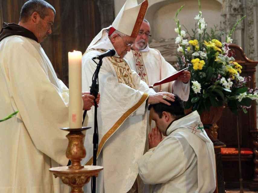 Ordenación del último diácono, fray Mauro. Foto: El Norte de Castilla