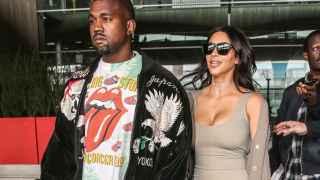 Kim Kardashian y Kanye West en París el 13 de junio