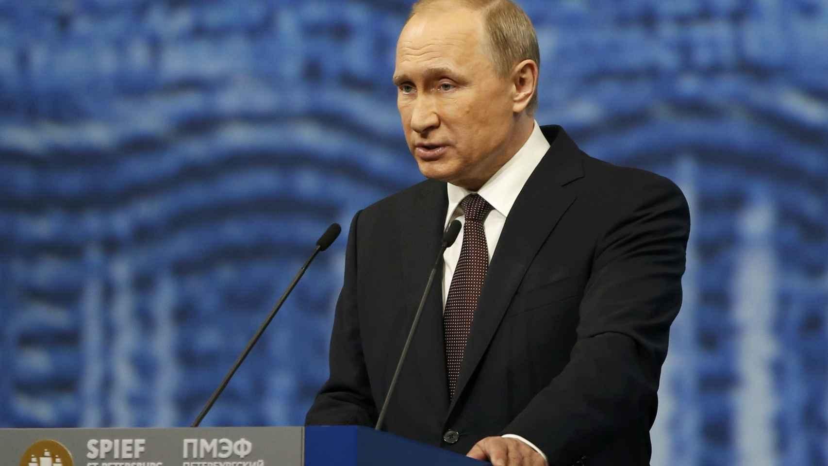 Putin en su comparecencia.