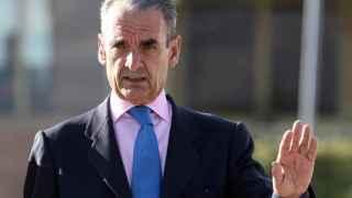Mario Conde, a su salida  de la prisión madrileña de Soto del Real.