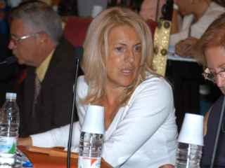 Soledad Olano, en un Pleno municipal de La Laguna