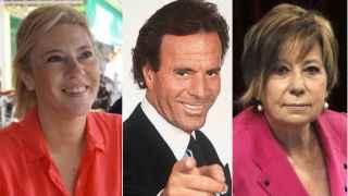 Carolina España, Julio Iglesias y Celia Villalobos forman el trío de esta historia.