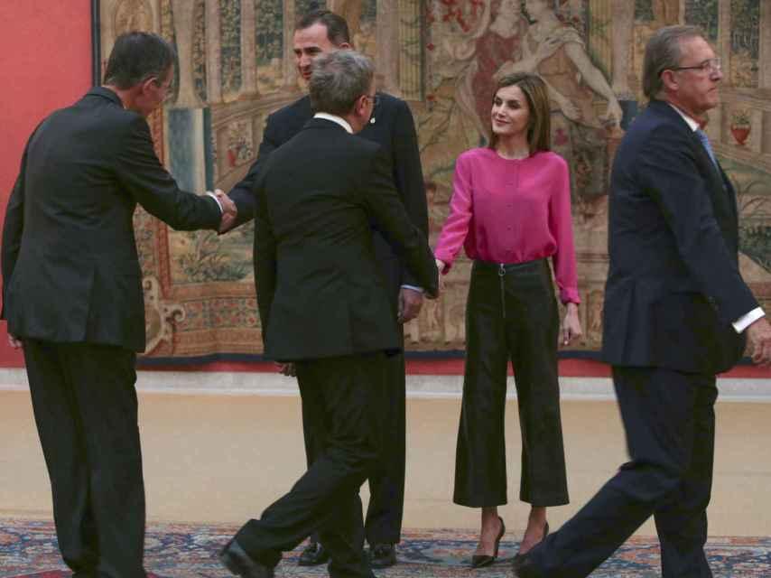 La reina con sus culottes durante un evento de la fundación Princesa de Asturias.